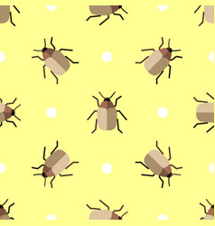 seamless pattern with beatles and circles vector image