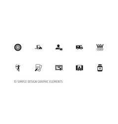 set of 10 editable complicated icons includes vector image