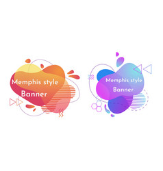 Set of abstract banners liquid shape vector