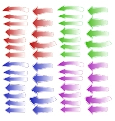 Set of Colorful Different Arrows vector image
