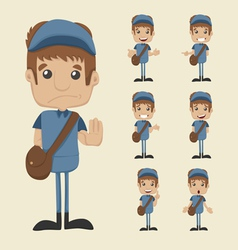 Set of postman eps10 format vector