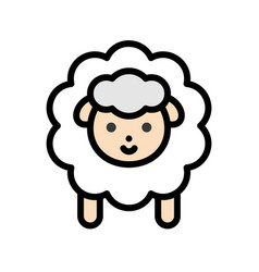 Sheep easter filled icon editable stroke vector