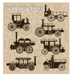 Steam-punk cars vector