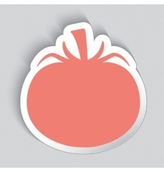 Sticker label in a shape of tomato vector