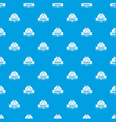 sword pattern seamless blue vector image