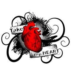take my heart vector image