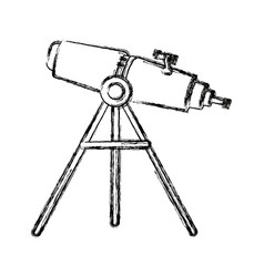 telescope education and astronomy element spyglass vector image