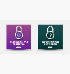 template for social media banners with padlock vector image