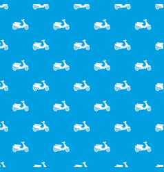 Vespa scooter pattern seamless blue vector