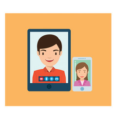 video call with business team vector image