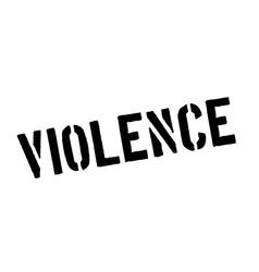 Violence black rubber stamp on white vector
