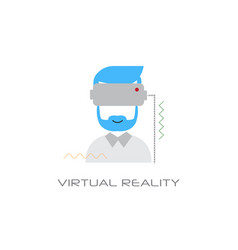 vr digital glasses headset virtual reality vision vector image