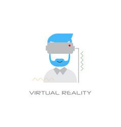 vr digital glasses headset virtual reality vision vector image