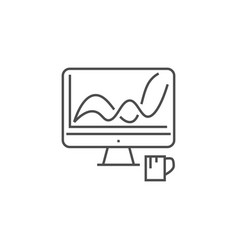 web analytics thin line icon vector image
