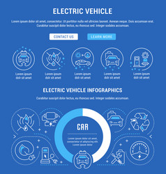 website banner and landing page electric vector image