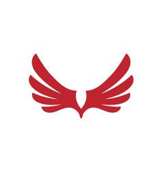 wing falcon logo template vector image