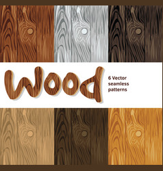 Wood background seamless patterns set vector