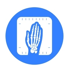 X-ray hand icon black Single medicine icon from vector