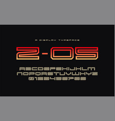 z 05 display typeface font alphabet vector image