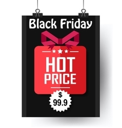 Black Friday Hot Price flyer vector image vector image