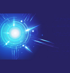 blue background abstract technology communication vector image