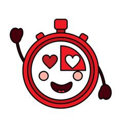Chronometer kawaii icon image vector