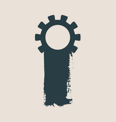 cog wheel and paintbrush isolated vector image vector image