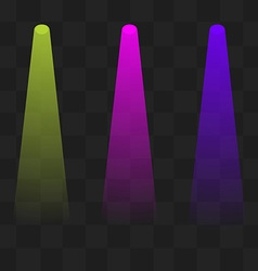 Green magenta and blue lighting with spotlights vector image