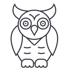 owlwisdom line icon sign on vector image vector image