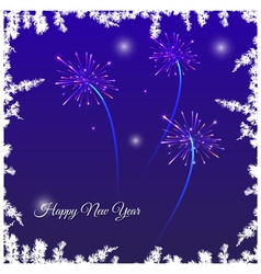 Festive New Year card vector image vector image