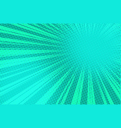 green pop art rays background vector image vector image