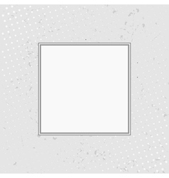 Grunge background with halftone with white frame vector image vector image