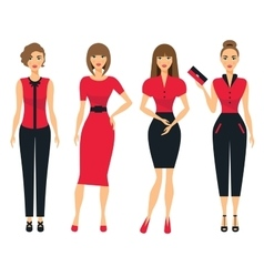 Set of business clothes for women Woman in office vector image vector image