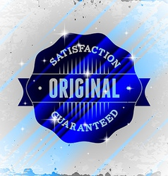 Vintage styled label with glitters vector image