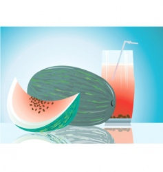 water melon vector image