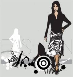 catwalk model vector image
