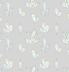 Fashion hipster seamless pattern with diamonds vector image