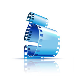 film on white background vector image