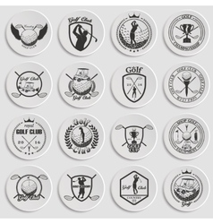 golf labels badges and emblems vector image vector image