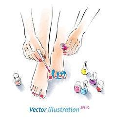 Home pedicure vector image