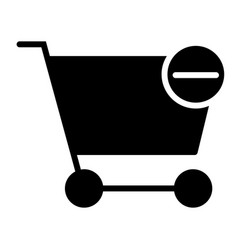 remove items from shopping cart silhouette icon vector image vector image