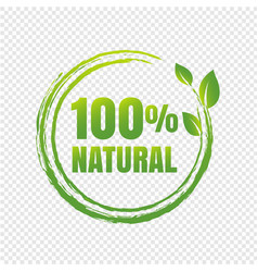 100 natural product transparent background vector image