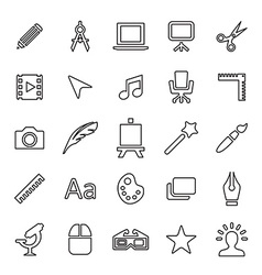 25 outline universal design icons vector