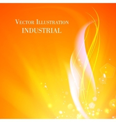 Abstract background of industry fire vector image