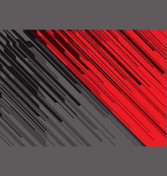 Abstract black line circuit on red grey vector
