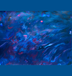 abstract blue fluid creative template cards vector image