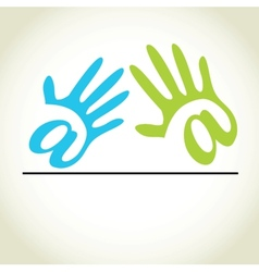 Abstract hands seamless background vector image