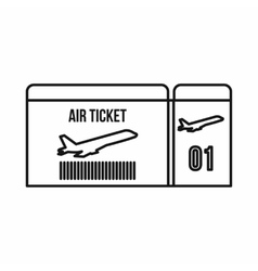 Air ticket icon outline style vector image