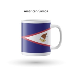 American Samoa flag souvenir mug on white vector
