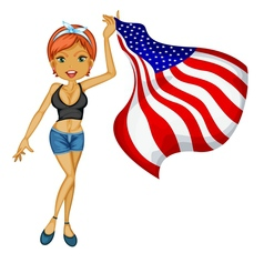 american woman vector image